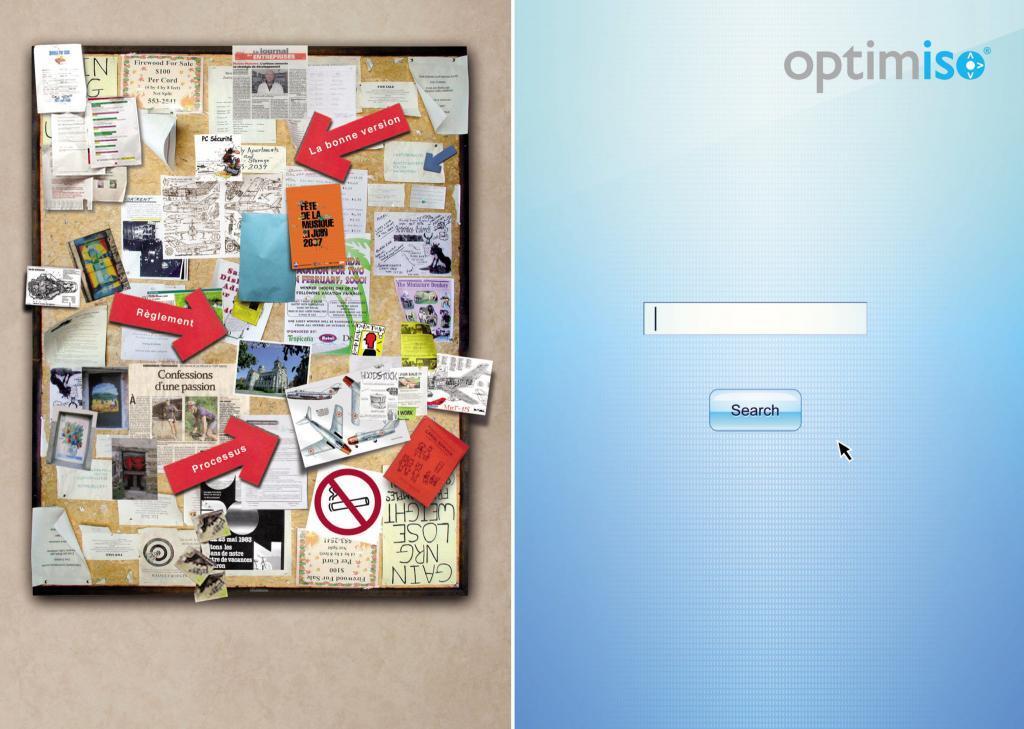 Un panneau de notes illisible versus un logiciel qui clarifie les procédures et processus